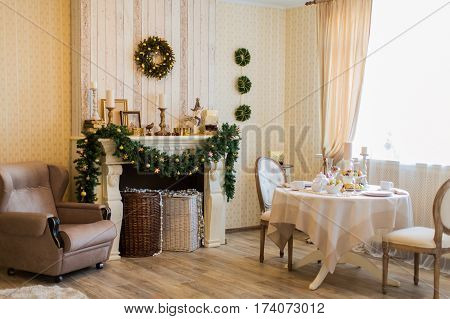 Beautiful interior of the new year 2017/16/15