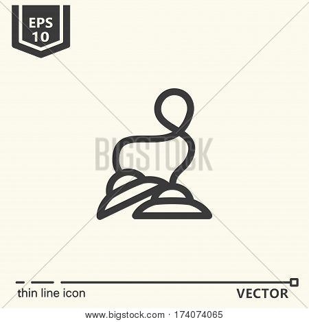 Thin line icon - Tibetan bells. EPS 10. Isolated object