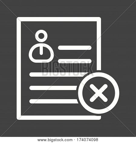 User, profile, invalid icon vector image. Can also be used for business administration. Suitable for mobile apps, web apps and print media.