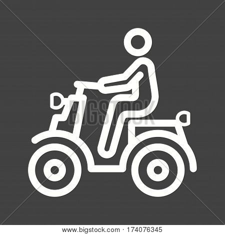 Scooter, man, vespa icon vector image. Can also be used for city lifestyle. Suitable for use on web apps, mobile apps and print media.