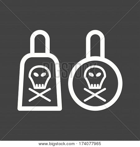 Chemicals, toxic, laboratory icon vector image. Can also be used for chemistry. Suitable for mobile apps, web apps and print media.