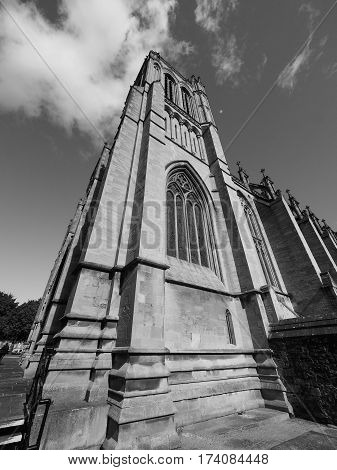 Bristol Cathedral In Bristol In Black And White