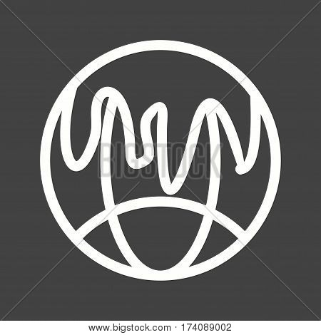 Pollution, global, disaster icon vector image. Can also be used for disasters. Suitable for use on web apps, mobile apps and print media.