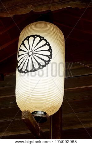 Japanese lantern or lamp traditional lighting equipment of Todai-ji Temple at Kansai region on July 9 2015 in Nara Japan
