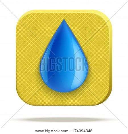 Technical illustration Demonstration of Waterproof structure material. Water drop on fabric. Icons design. Vector Illustration isolated on white background