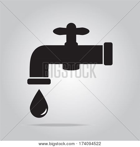 Faucet icon flat style object vector illustration