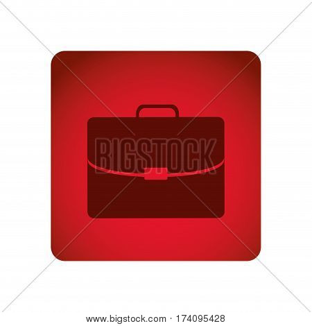 red square frame briefcase executive icon vector illustration
