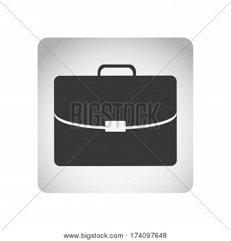 monochrome square frame with silhouette briefcase executive icon vector illustration