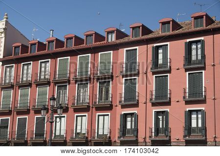 Valladolid (Castilla y Leon Spain): historic buildings in Plaza Mayor the main square of the city
