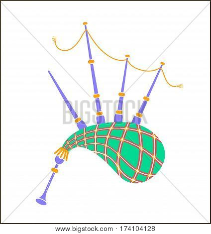 Bagpipes Icon  Illustration