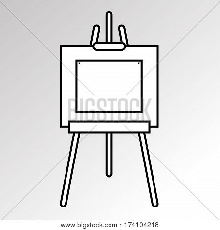 easel vector canvas artist art board wood billboard white blank sign