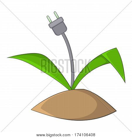 Wire plug icon. Cartoon illustration of wire plug vector icon for web