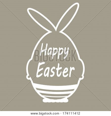 Easter card with cute egg - vector illustration