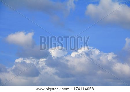 blue sky with a raincloud bright beautiful art of nature and copy space for add text