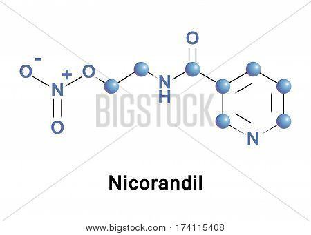 Nicorandil is a vasodilatory drug used to treat angina.