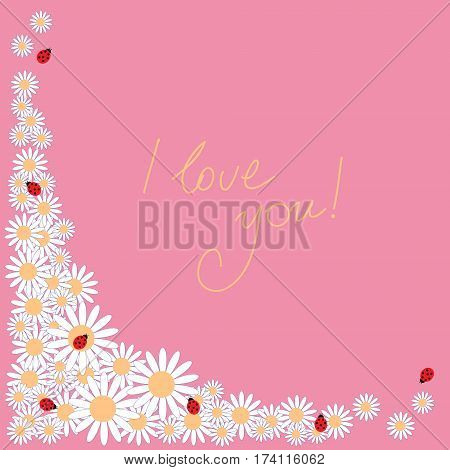Lovely Holiday Letter With Daisies And Ladybirds
