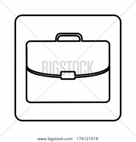 monochrome contour square with executive suitcase vector illustration