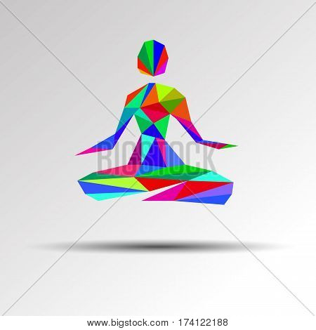 yoga health meditation pose vector girl illustration body relax zen fitness