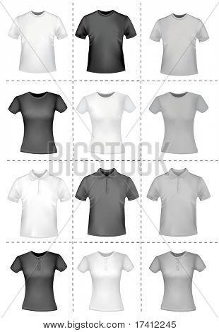 Shirts. Photo-realistic vector