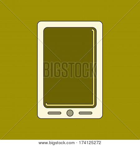 flat icon on stylish background mobile phone