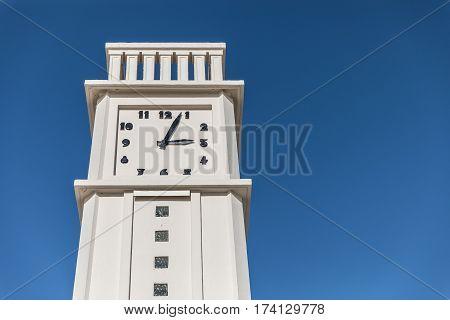 The clock on the beach of Les Sables d'Olonne (France)