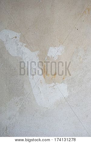 bare interior wall background with distressed plaster patina texture