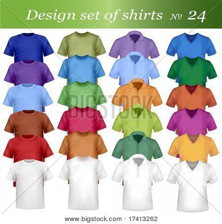 Twenty-fourth design shirt set. Vector.