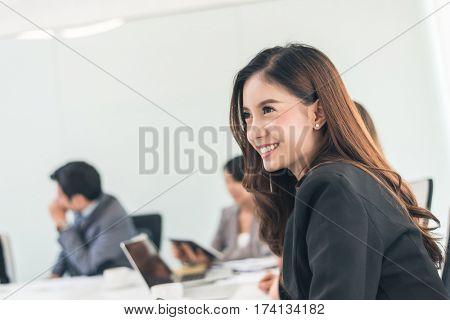 smiling business woman portrait of Asian