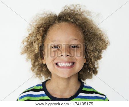 Portrait of a Little African Descent Boy