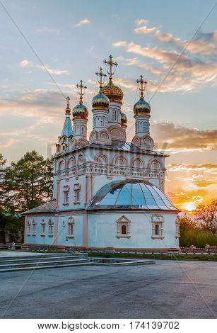 Church of The Transfiguration of Our Saviour On Yar near Ryazan Kremlin Russia