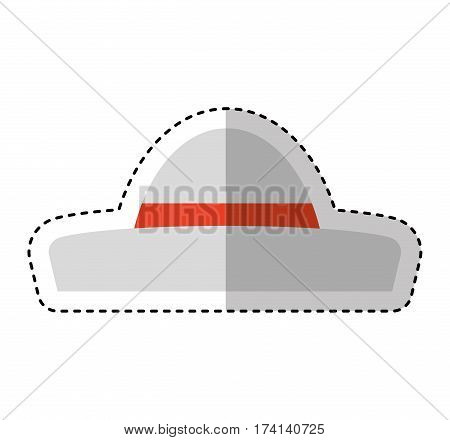 Typical latin american hat vector illustration design
