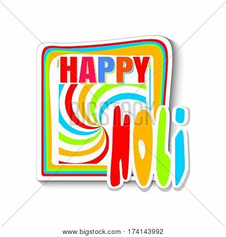 Colorful banner for the Indian festival of colors - Holi. Happy Holi. Vector illustration