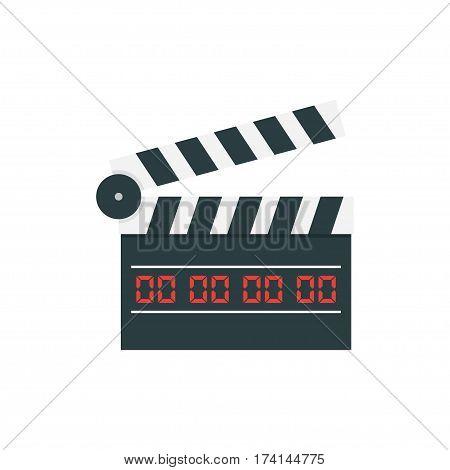 movie clapper board on white background. Vector illustration.