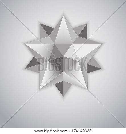 Figure Kepler. Dodekaidr. Stereometry. Complex polyhedra. Logotip for your design creeping crystal.