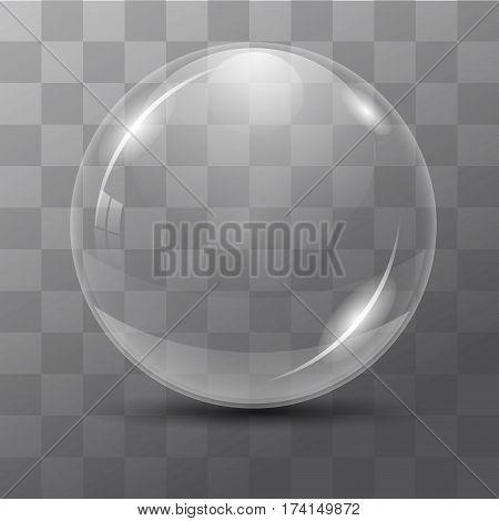 White transparent bubble. Lens. dew drops on a transparent background. Vector illustrations