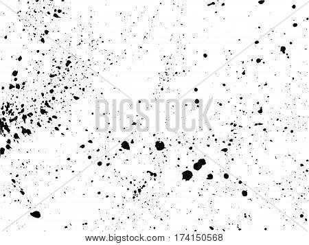 Splated background. Black paint splashes. Vector illustration for your design.