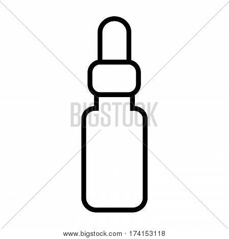 simple thin line pharmaceutical drugs icon vector