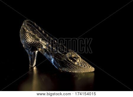 fairy tale sparkling crystal Slipper cinderella princess midnight black
