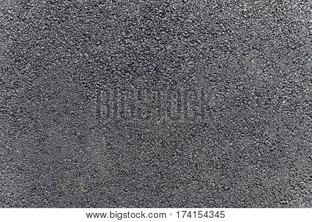 Black tar texture surface for traffic transport