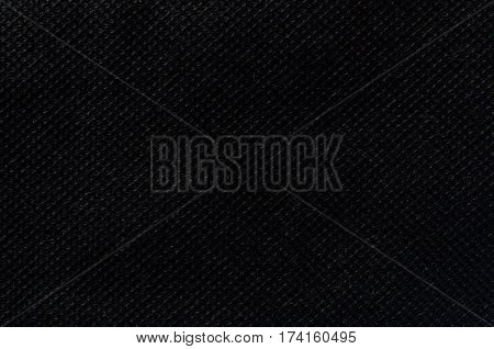 Black nonwoven fabric texture use for background