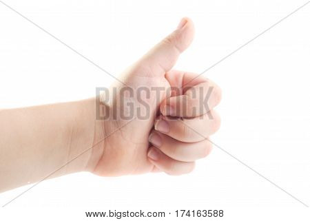 Thumbs Up, Isolated On White Background,