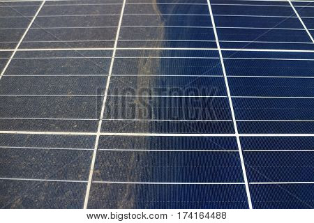 Partially Clean of Dirty Dusty Photovoltaic Panels
