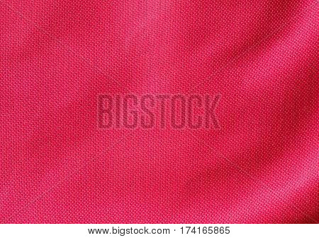 Red woven fabric texture use for background