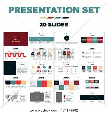 Presentation templates Infographic elements, flat design set for marketing and advertising