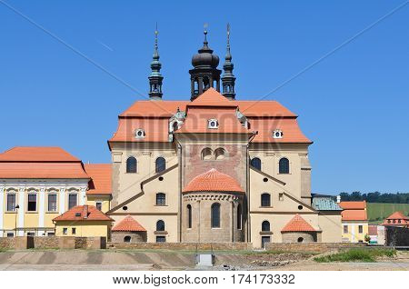 Basilica of the Assumption of the Virgin Mary and St. Cyril and Methodius in Velehrad ,part of the monastery is the most important pilgrimage church Czech Republic