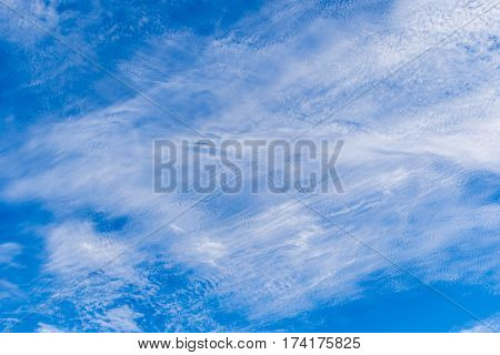 beautiful of blue sky with cloud .