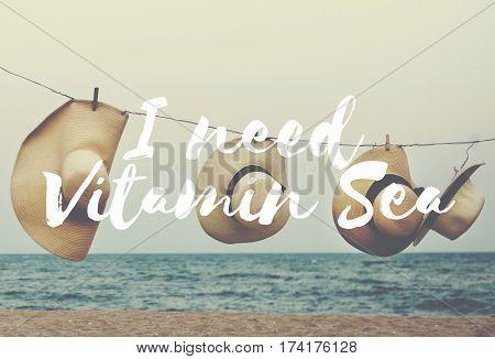 Ocean Breeze Vitamin Word Font