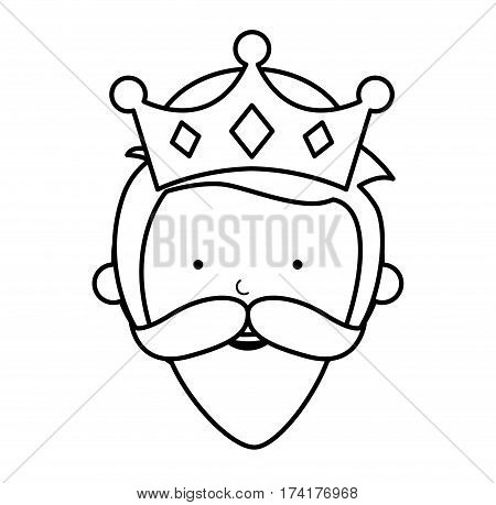 wise man manger character vector illustration design