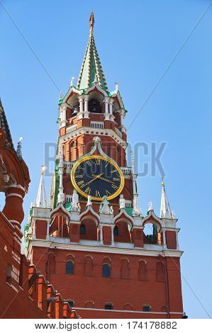 Clock Chimes Of The Spassky Tower Of The Moscow Kremlin