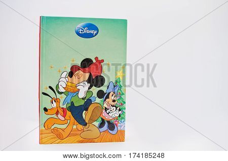 Hai, Ukraine - February 28, 2017: Animated Disney Movies Cartoon Production Book The Prince And The